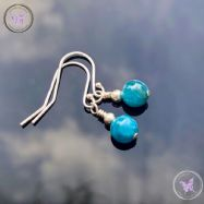 Classical Apatite Silver Earrings